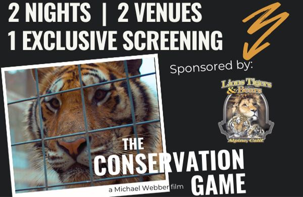 Film Screening at Lions Tigers & Bears