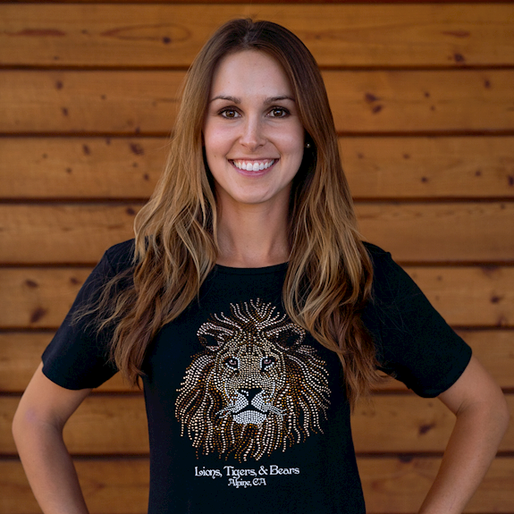 Lion Bling Knit Tee