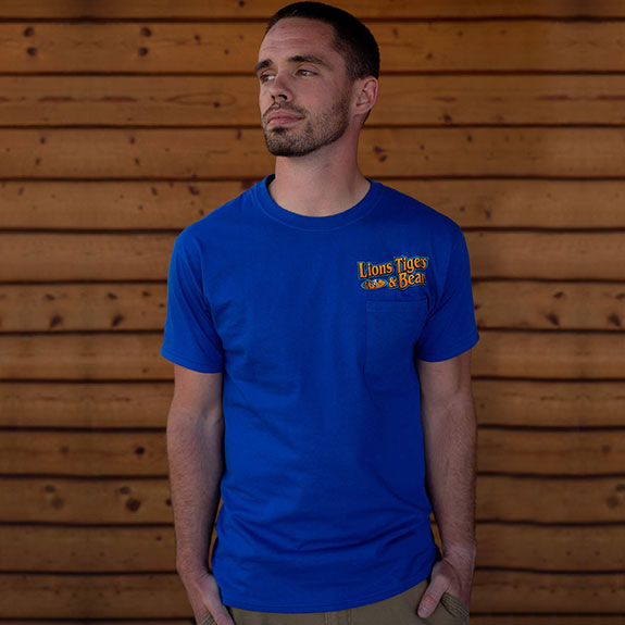 Men's Royal Blue Pocket T-Shirt